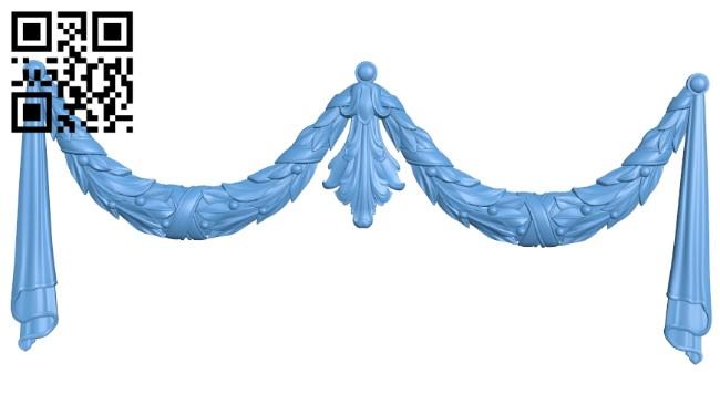Pattern decor design A005689 download free stl files 3d model for CNC wood carving
