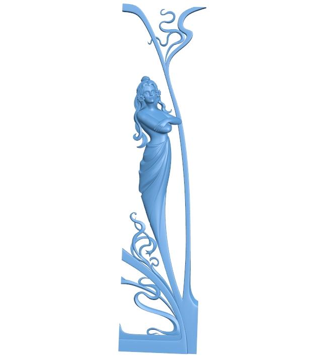 Pattern decor design A005837 download free stl files 3d model for CNC wood carving