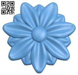 Pattern flower design A005773 download free stl files 3d model for CNC wood carving