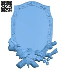 Picture frame or mirror A005706 download free stl files 3d model for CNC wood carving