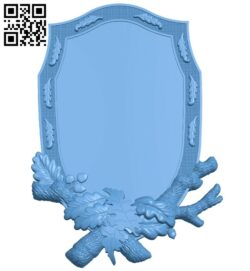 Picture frame or mirror A005707 download free stl files 3d model for CNC wood carving