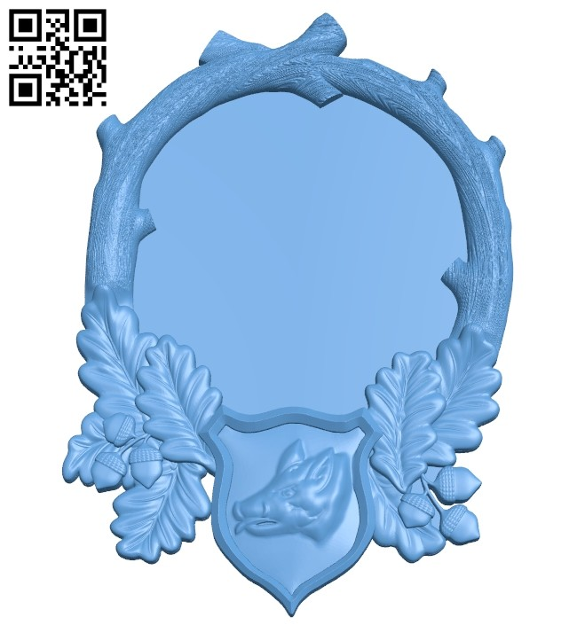 Picture frame or mirror A005708 download free stl files 3d model for CNC wood carving