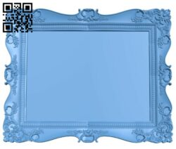 Picture frame or mirror A005710 download free stl files 3d model for CNC wood carving