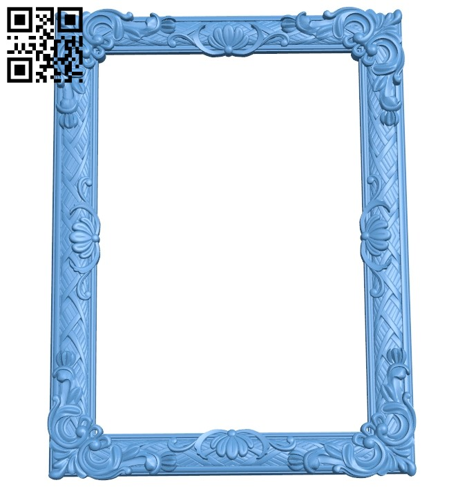 Picture frame or mirror A005711 download free stl files 3d model for CNC wood carving