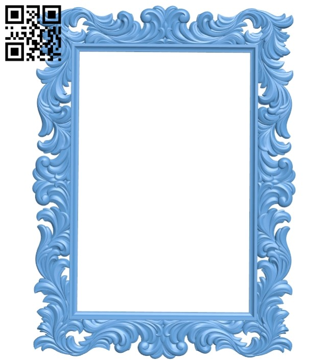 Picture frame or mirror A005712 download free stl files 3d model for CNC wood carving