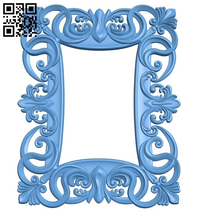 Picture frame or mirror A005715 download free stl files 3d model for CNC wood carving