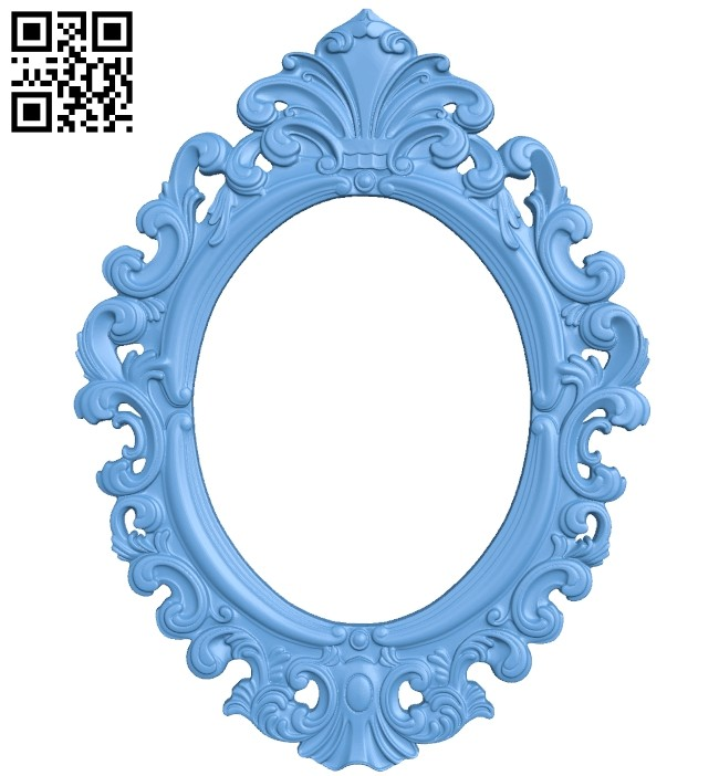 Picture frame or mirror A005751 download free stl files 3d model for CNC wood carving