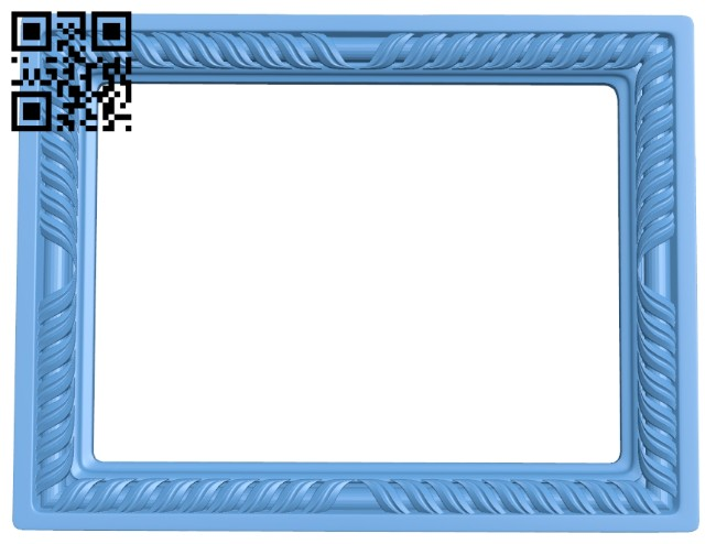 Picture frame or mirror A005757 download free stl files 3d model for CNC wood carving