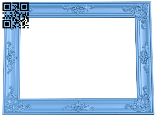 Picture frame or mirror A005758 download free stl files 3d model for CNC wood carving