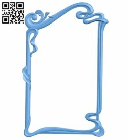 Picture frame or mirror A005811 download free stl files 3d model for CNC wood carving