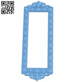Picture frame or mirror A005815 download free stl files 3d model for CNC wood carving