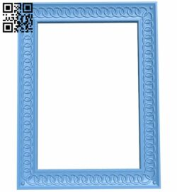 Picture frame or mirror A005816 download free stl files 3d model for CNC wood carving