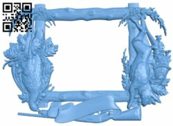 Picture frame or mirror A005817 download free stl files 3d model for CNC wood carving