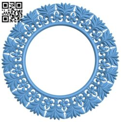 Picture frame or mirror circle A005713 download free stl files 3d model for CNC wood carving