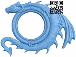Picture frame or mirror dragon A005813 download free stl files 3d model for CNC wood carving
