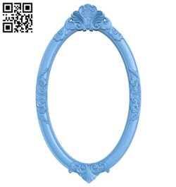 Picture frame or mirror oval A005717 download free stl files 3d model for CNC wood carving