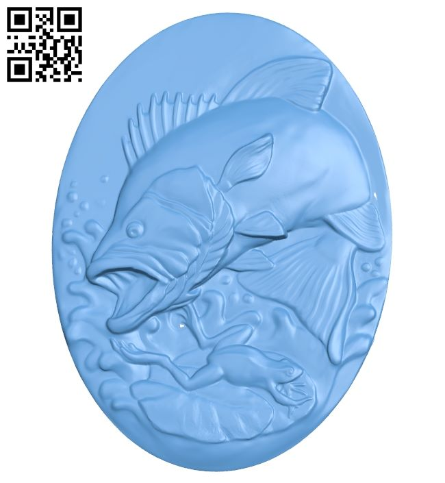 Pictures of predatory fish A005827 download free stl files 3d model for CNC wood carving