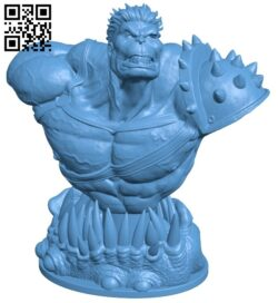 Planet hulk bust – superhero B008825 file obj free download 3D Model for CNC and 3d printer