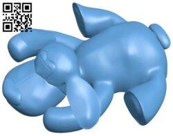 Ragdoll dog B008704 file stl free download 3D Model for CNC and 3d printer