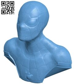 Repaired spiderman bust B008869 file obj free download 3D Model for CNC and 3d printer