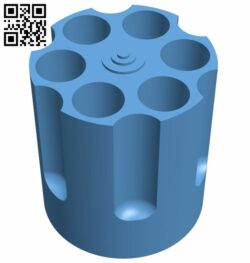 Revolver pen holder B008853 file obj free download 3D Model for CNC and 3d printer