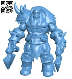 Rexxar – game dota B008718 file obj free download 3D Model for CNC and 3d printer