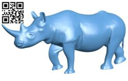 Rhino B008644 file stl free download 3D Model for CNC and 3d printer