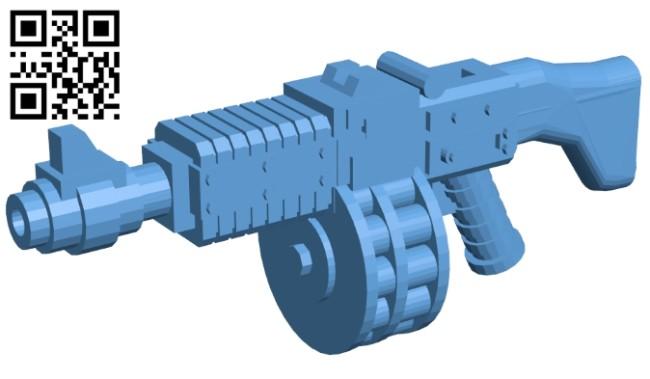 Ripper gun B008686 file stl free download 3D Model for CNC and 3d printer