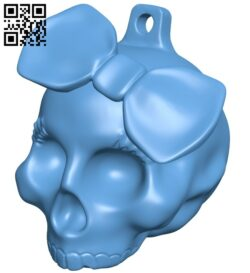 Skull pendant B008698 file stl free download 3D Model for CNC and 3d printer