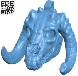 Skull pendant B008872 file obj free download 3D Model for CNC and 3d printer