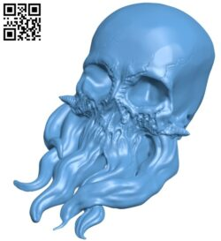 Skull tentacle B008634 file stl free download 3D Model for CNC and 3d printer