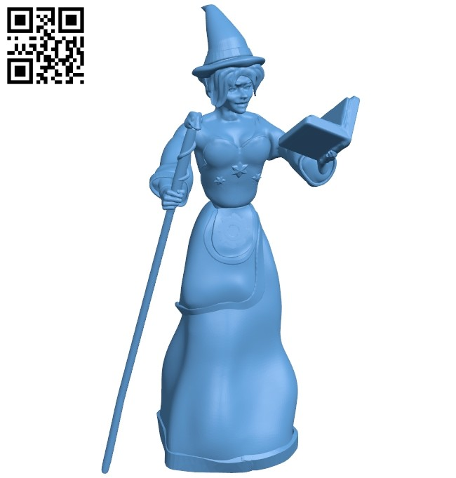 Spell - witch B008701 file stl free download 3D Model for CNC and 3d printer