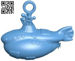 Submarine-shaped pendant B008695 file stl free download 3D Model for CNC and 3d printer