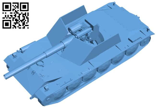 Tank G99 RhB waffentrager B008890 file obj free download 3D Model for CNC and 3d printer