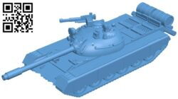 Tank TR-580 B008731 file obj free download 3D Model for CNC and 3d printer