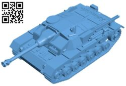 Tank stug B008639 file stl free download 3D Model for CNC and 3d printer