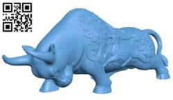 The buffalo is made of copper – bull B008659 file stl free download 3D Model for CNC and 3d printer