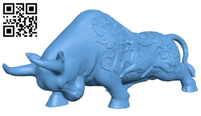 The buffalo is made of copper - bull B008659 file stl free download 3D Model for CNC and 3d printer