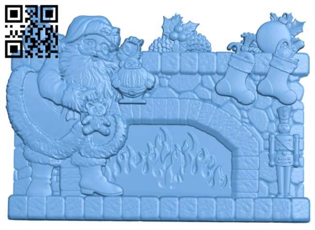 The picture of Santa Claus - noel A005762 download free stl files 3d model for CNC wood carving