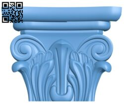 Top of the column A005720 download free stl files 3d model for CNC wood carving