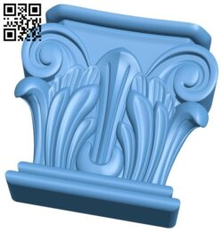 Top of the column A005721 download free stl files 3d model for CNC wood carving