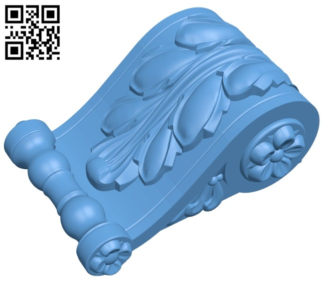 Top of the column A005728 download free stl files 3d model for CNC wood carving