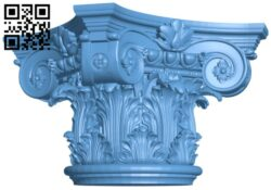 Top of the column A005783 download free stl files 3d model for CNC wood carving