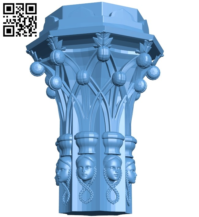 Top of the column A005787 download free stl files 3d model for CNC wood carving