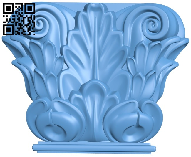 Top of the column A005789 download free stl files 3d model for CNC wood carving