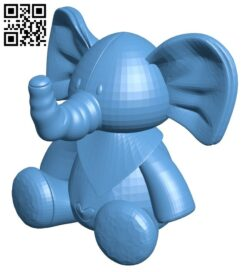 Toy elephant B008870 file obj free download 3D Model for CNC and 3d printer