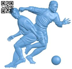 Two soccer players A005760 download free stl files 3d model for CNC wood carving