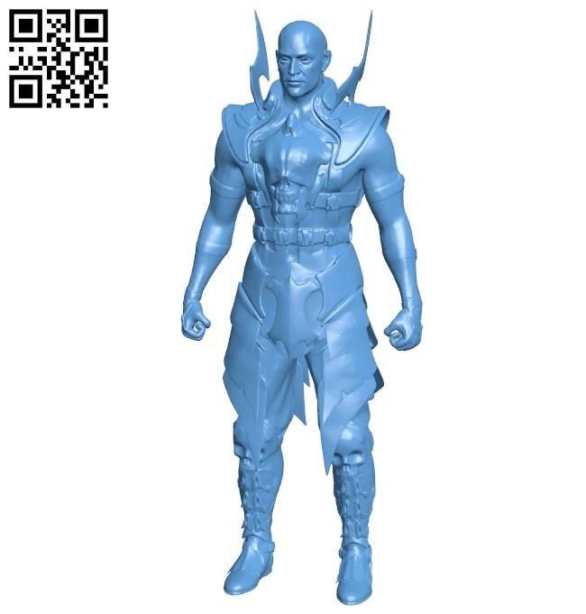 Warrior - man B008700 file stl free download 3D Model for CNC and 3d printer