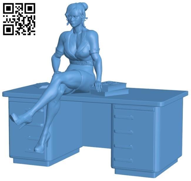 Women - teacher B008861 file obj free download 3D Model for CNC and 3d printer