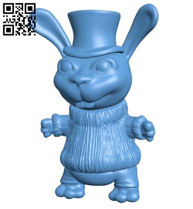 Zaya - rabbit B008887 file obj free download 3D Model for CNC and 3d printer